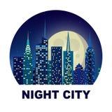城市例证夜空星形 图库摄影
