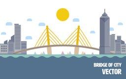 城市例证桥梁和 向量例证