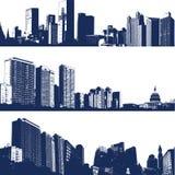 城市例证横向 免版税库存图片