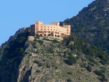 城市修道院俯视巴勒莫的意大利 免版税图库摄影
