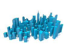 城市俯视图模型 图库摄影