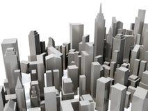 城市俯视图模型 免版税库存照片