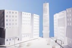 城市做新的纸方形时期约克 免版税库存照片