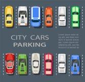 城市停车场 库存例证