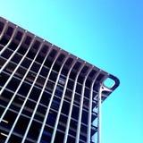城市停车库的角落 免版税库存照片