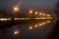 城市光喜欢星形 库存照片