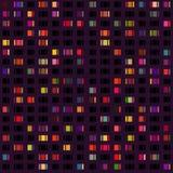 城市光的传染媒介无缝的样式 库存照片