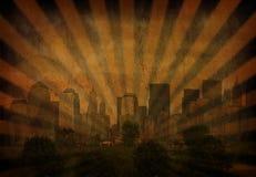 城市光芒 向量例证