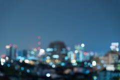 城市光被弄脏的抽象背景 免版税库存照片