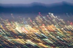 城市光被弄脏的看法  免版税库存图片