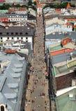 城市克拉科夫波兰街道 免版税库存图片
