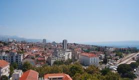 城市克罗地亚分开的视图 免版税图库摄影