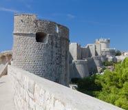 城市克罗地亚杜布罗夫尼克市墙壁 免版税库存图片