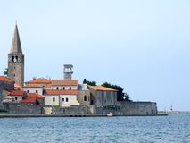城市克罗地亚porec 免版税库存图片