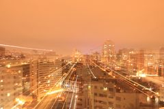 城市克里姆林宫横向晚上被反射的河 免版税图库摄影