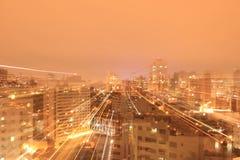 城市克里姆林宫横向晚上被反射的河 图库摄影
