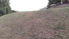 城市全景 公园草上升路 4K 影视素材