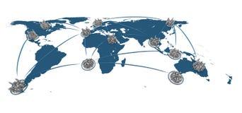 城市全球网络 库存照片