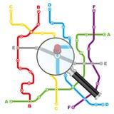 城市公共交通工具计划 免版税库存图片