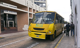 城市公共汽车在梅里达,尤加坦墨西哥 库存图片