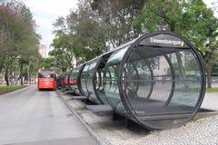 城市公共汽车在巴西 图库摄影