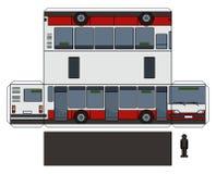 城市公共汽车的纸模型 皇族释放例证
