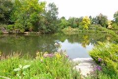 城市公园在博伊西,爱达荷 图库摄影