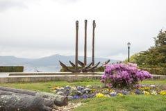 城市公园在比戈,加利西亚 免版税库存照片