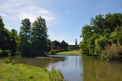 城市公园在米兰 库存照片
