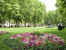 城市公园在萨格勒布,克罗地亚 库存图片