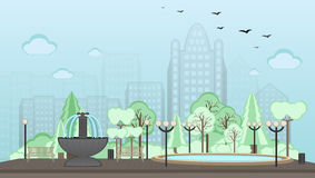 城市公园方式 皇族释放例证