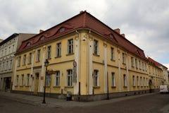 城市公立图书馆的大厦在比得哥什,波兰 库存图片