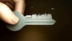 城市关键字 免版税库存图片