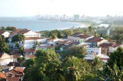 城市典型olinda的视域 库存图片