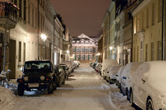 城市冬天沈默 免版税库存图片