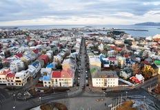 城市冰岛雷克雅未克 库存图片
