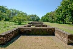 城市利昂尼加拉瓜老废墟 免版税库存照片