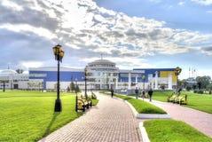 城市别尔哥罗德州 教育和体育复合体被命名斯韦特兰娜 免版税图库摄影