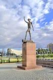 城市别尔哥罗德州 斯维特兰娜・霍尔金娜雕塑  免版税库存图片