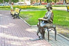 城市别尔哥罗德州 雕塑在公园 库存照片