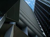 城市刮板天空 免版税图库摄影