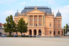 城市剧院在什未林,德国 免版税库存照片