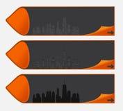 导航城市剪影的例证。 EPS 10。 免版税库存图片