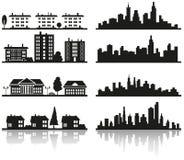 城市剪影  图库摄影