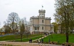 城市博物馆在城市Druskinenkay,立陶宛 免版税库存图片