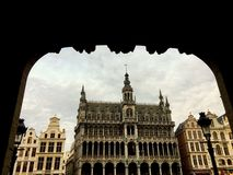 城市博物馆在布鲁塞尔,比利时 库存照片