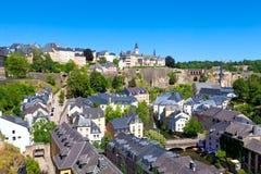 城市卢森堡全景 免版税库存照片