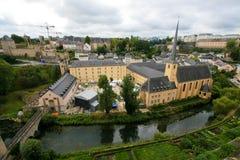 城市卢森堡老视图 库存图片