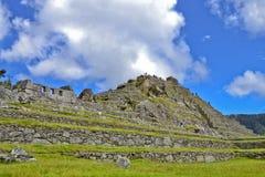 城市印加人失去的machu秘鲁picchu 免版税库存照片