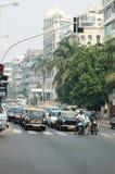 城市印度多数mumbai人口众多的业务量 库存图片